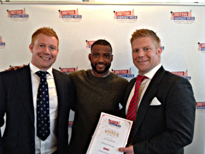 JB Gill with Tom and Ed at British Sausage Week 2016 awards